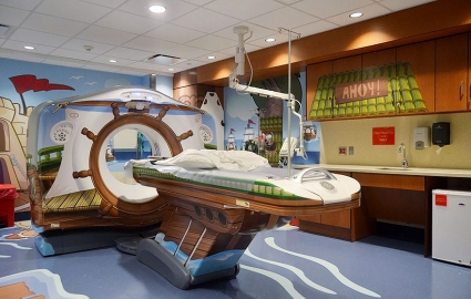 Illustration du Buzz : To reassure the sick children, this hospital has brought a few modifications to its scanner!