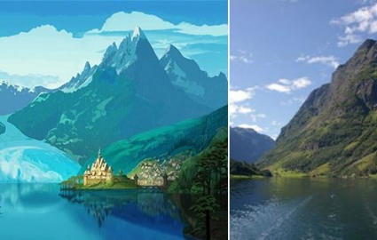 Photo : 10 times when Disney was inspired by real places! Which ones are the most similar?