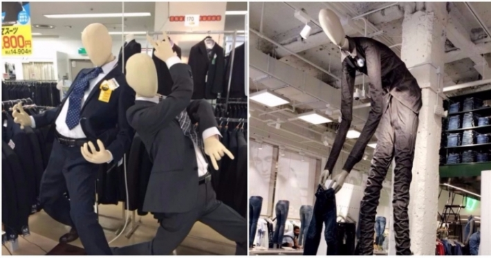 Photo : 18 mannequins in some rather awkward poses