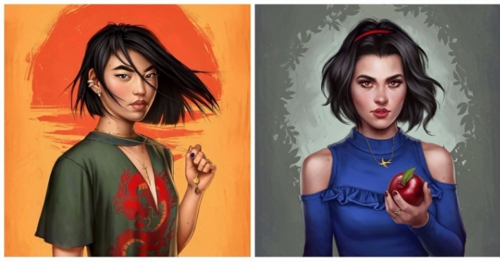 Photo : This artist shows how Disney princesses would look in 2017