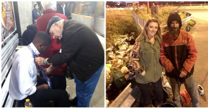 Photo : 14 people who lent a stranger a helping hand