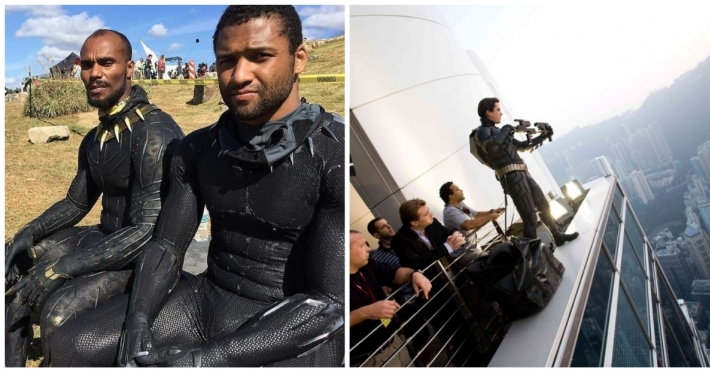 Photo : 16 behind-the-scenes photos from major blockbuster movies