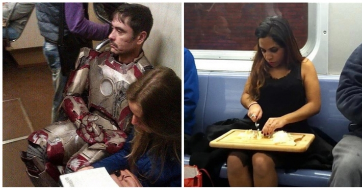 Photo : 25 unexpected people seen on public transportation