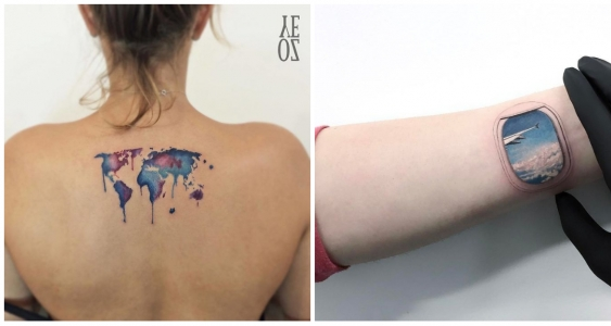 Illustration de l'idée : 20 tattoos that every traveler will love