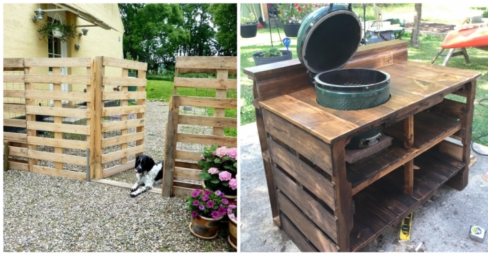 Photo : 24 creative ways to upcycle old wooden pallets