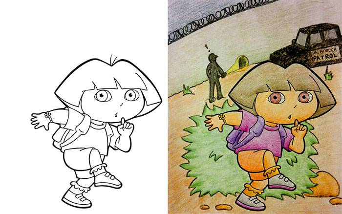 30 Kids Coloring Books Hijacked By Adults With Hilarious Results